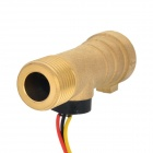 YF-B8 Copper DN15 Water Flow / Hall Sensor - Golden (DC 5~24V)