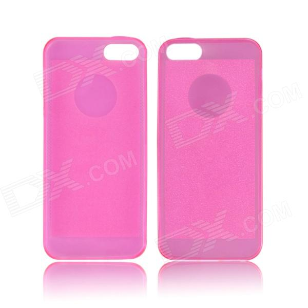 Angibabe 0.3mm Soft TPU Protective Glitter Jelly Phone Case for IPHONE 5 / 5S - Deep Pink mercury goospery i jelly for iphone se 5s 5 soft tpu case metallic finish rose