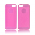 Angibabe 0.3mm Soft TPU Protective Glitter Jelly Phone Case for IPHONE 5 / 5S - Deep Pink