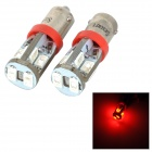 SENCART T10 / BA9S 4W 8lm 700nm 5730 SMD LED Red Light Car Reading / Width Lamp (2pcs / 12~16V)