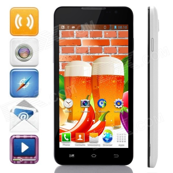F1W(F1) MTK6572 Dual-Core Android 4.2.2 WCDMA Bar Phone w/ 5.0