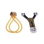 Outdoor Sports Hunting Zinc Alloy Slingshot - Black + Silver + Multi-colored