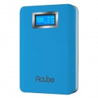 "CUBE E10B 10000mAh Dual USB 10000mAh Li-polymer Battery Power Bank w/ 1"" LCD / LED  Lamp - Blue"