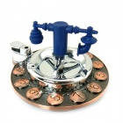 KG7 Multi-functional Rotary Automatic Clean Ashtray - Black + Blue