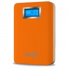 "CUBE E10B 10000mAh Dual USB Mobile Power Bank w/ 1"" Display Screen / LED  Lamp - Orange"