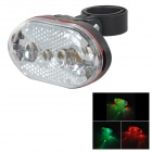 9-LED 5-Mode Multi-colored Light Bike Bicycle Warning Tail Lamp - Black + Red (2 x AAA)