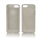 Angibabe 0.3mm Soft TPU Protective Shiny Glitter Jelly Phone Case for IPHONE 5 / 5S - Gray