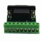 HF- 9Pin 3.81 Female Block Terminal DB9 Connectors Module - Green