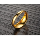 Men's Simple Stylish Gold Plated Ring - Gold (Size 7)