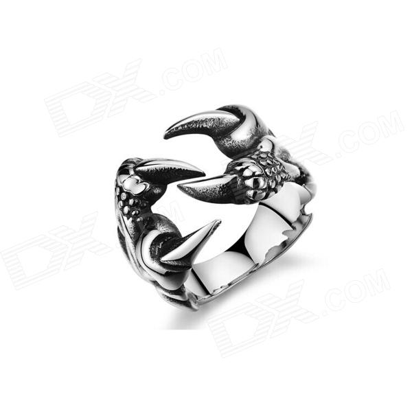 Men's Fashionable Monster Shaped 316L Stainless Steel Ring - Silver master series trine steel c ring collection package of 4