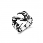 Men's Fashionable Monster Shaped 316L Stainless Steel Ring - Silver