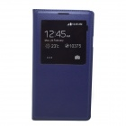 Protective PU Flip-open Case w/ Display Window for Samsung Note3 N9000 - Purple