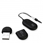 360° Portable Mini USB 2.0 Wi-Fi Router - Black