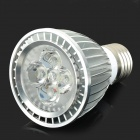 E5-LIGHTING PAR701 E27 6W 420lm 6000K 5-LED Cool White dimmablespotlight - Silber (AC 110 V)