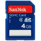 SanDisk 4GB Class 4 SDHC Flash Memory Card- SDSDB-004G