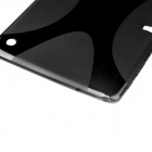 X Pattern Anti-slip TPU Back Case for Samsung Galaxy Tab S 10.5 - Black