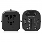 MOCREO universel double USB Travel Wall AU / UK / U.S. / shuffle MP3 alimentation chargeur adaptateur - noir