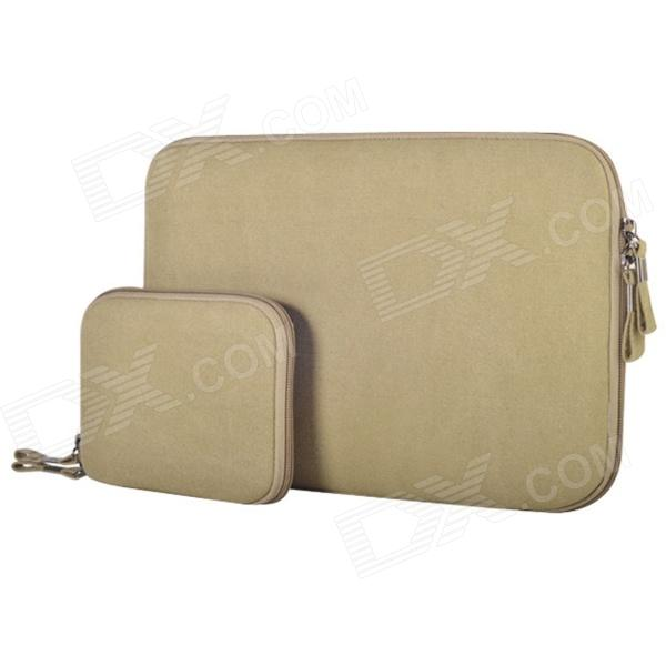 "Oushine suojaava Oxford hiha laukku + pieni laukku 11,6"" MACBOOK AIR - Khaki"