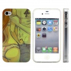 Sexy Lovers Print Pattern Protective Silicone Back Case Cover for IPHONE 4 / 4S
