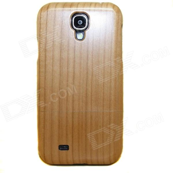 Protective Cherry Wood Case for Samsung Galaxy S4 - Brownish Yellow handmade new solid maple wood brown acoustic violin violino 4 4 electric violin case bow included