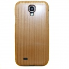 Protective Cherry Wood Case for Samsung Galaxy S4 - Brownish Yellow
