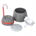 ALOCS CW-EM01 Handy Portable Outdoor Coffee Maker for Camping - Deep Grey (350mL)