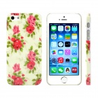 Rose Design Pattern Print Plastic Case for IPHONE 5 / 5S - Green + Red