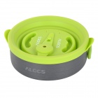 ALOCS CW-K05 Handy Portable Outdoor Cooker Pan Pot w/ Whistle Lid - Deep Grey + Green
