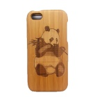 Panda Pattern Detachable Protective Wood Back Case for IPHONE 5C - Brown + Black