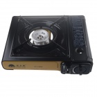 XTY-2000 Outdoor Camping Portable Butane Gas Tabletop Stove Burner - Yellow + Black