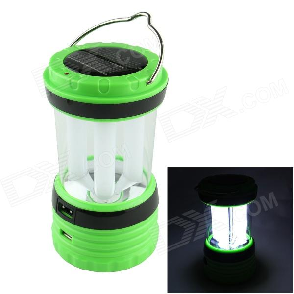 24-LED White Light Solar-powered Rechargeable Camping Lamp Lantern - Green + White + Black new multifunction rechargeable led camping light lanterns solar powered fan outdoor portable lanterns solar tent light lam lamp