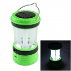 24-LED White Light Solar-powered Rechargeable Camping Lamp Lantern - Green + White + Black