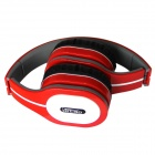 Ditmo 3.5mm Adjustable Foldable Headband Noise Canceling Stereo Headphone - Red