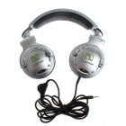 YuanBoTong SONIK-01 3.5mm Adjustable Headband Wired Headset w/ Voice Control - Silvery White + Black