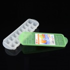 YH5869 PE 16-Grid Ice Making Tray / Mold - Green + White