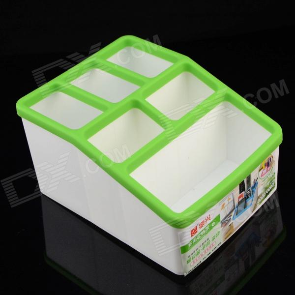 CH8866 Mini 7-Compartment  PP Storage Box - Green + White jr 956 box in box 7 compartment foldable handcraft storage case green