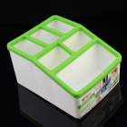 CH8866 Mini 7-Compartment  PP Storage Box - Green + White