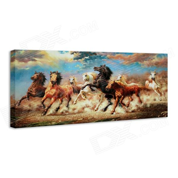 Iarts DX071604 Printing + Hand-painted Eight Chinese Fine Horses Painting - Orange (30 x 70cm) painted by a distant hand – mimbres pottery of the american southwest