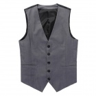 Men's Classic Stylish Slim Casual Suit Waistcoat Vest - Gray (Size XL)