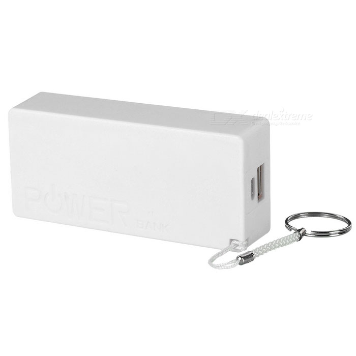 """3000mAh"" Li-ion Battery Mobile Power Source Bank - White"