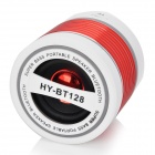 HY HY-BT128 Bluetooth V2.0 Speaker w/ Mini USB / Microphone / FM / TF / Light - White + Red