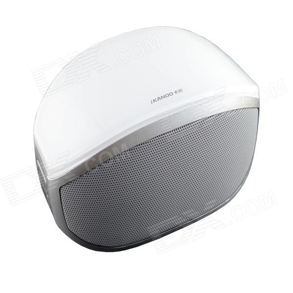 i608 Mini Bluetooth V3.0 Speaker / Stereo MP3 Player w/ Mic. / TF / Hands-free - White + Silver tronsmart element t6 mini bluetooth speaker portable wireless speaker with 360 degree stereo sound for ios android xiaomi player