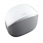 i608 Mini Bluetooth V3.0 Speaker / Stereo MP3 Player w/ Mic. / TF / Hands-free - White + Silver