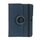 EPGATE-360 Degree Rotation Protective Case Cover Stand for Samsung Galaxy Tab4 T530 - Deep Blue