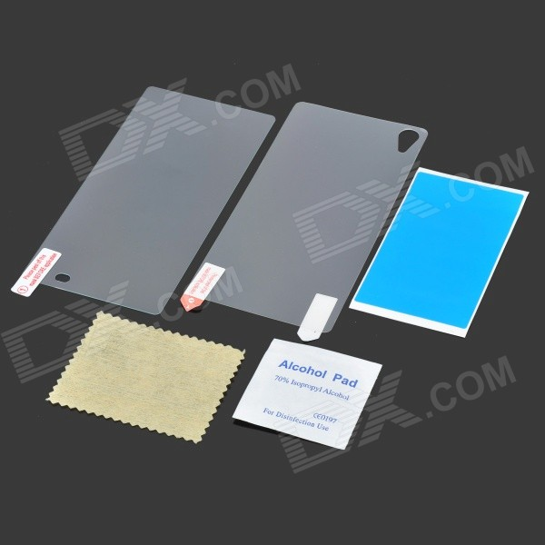 Tempered Glass Front + PET Back Films for Sony Z2 L50w - Transparent