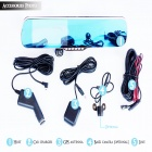 "ACSON R155 5"" Bluetooth Handsfree + Rearview Mirror Monitor + Parking Sensor System - Black + Blue"