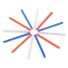 Bike Bicycle Reflective Spoke Clip Strips - White + Blue + Orange (12 PCS)