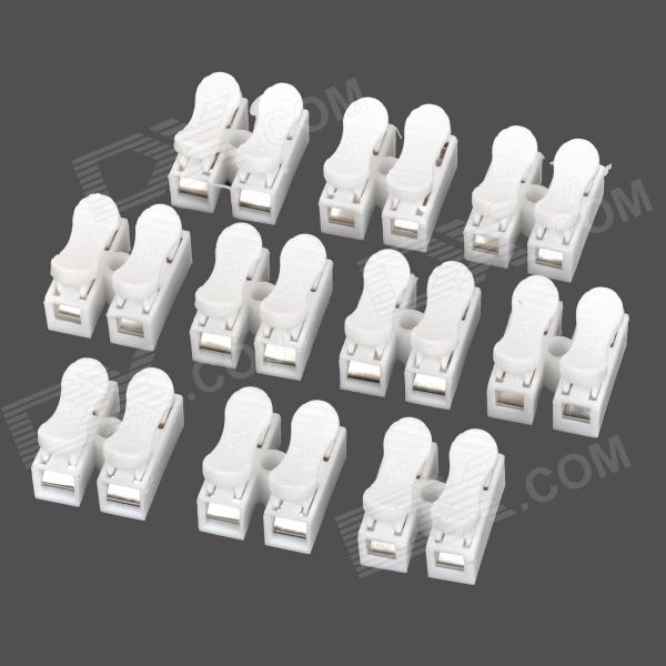 DIY Electric Wire / Cable ABS Quick Joint / Connector - White (10PCS)DIY Parts &amp; Components<br>BrandN/AModelN/AQuantity10 DX.PCM.Model.AttributeModel.UnitForm  ColorWhiteMaterialABSEnglish Manual / SpecNoOther FeaturesRated voltage: 380V; Rated current: 10A.CertificationCEPacking List10 x Connectors<br>