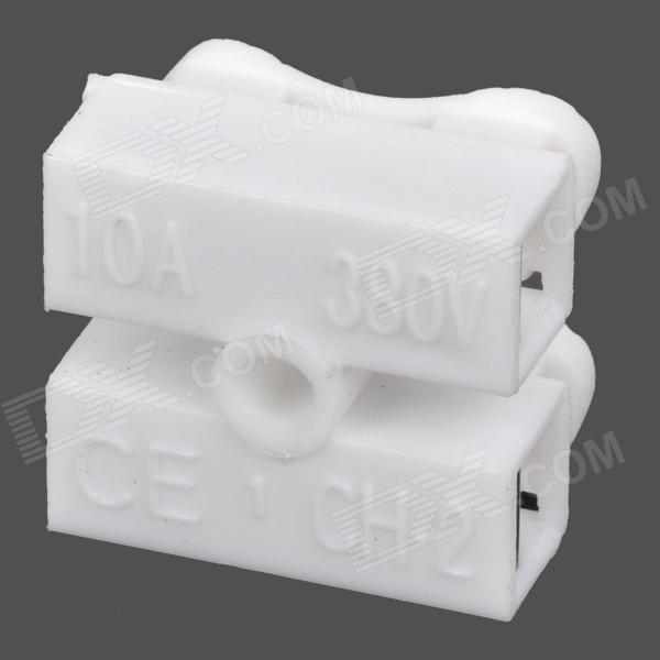 DIY Electric Wire / Cable ABS Quick Joint / Connector - White (10PCS)