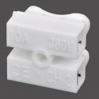 DIY Electric Wire / Cable ABS Conjunto Quick / Conector - blanco (10PCS)